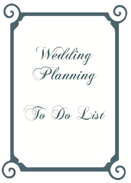 wedding planning to do lists